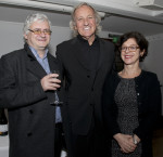 John Pilger together with ISCI's directors Penny Green and Tony Ward