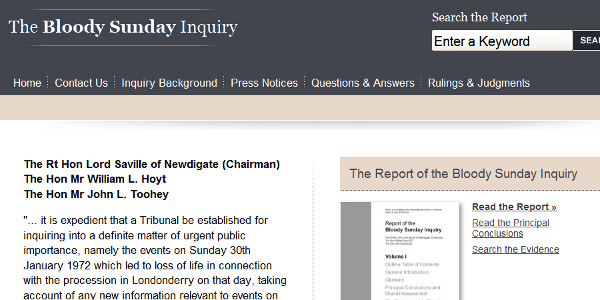 The Saville Inquiry Report took 12 years to complete