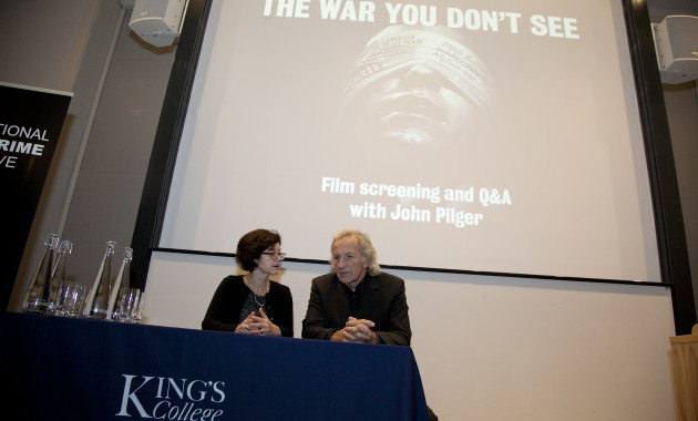 Celebrated investigative journalist and ISCI Honorary Fellow, John Pilger delivers ISCI's third annual lecture with the screening of his film 'The War you Don't See' at King's College