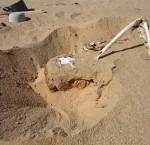 A half-buried victim of Tamouret - killed between 2003-2009